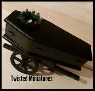 Coffin, Cart, wreath and body